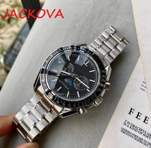 Mens Watches Quality Moonwatch Men 316L Stainless Steel Strap Automatic Mechanical Watch 2813 Movement Wristwatch Sapphire