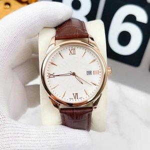 Moda Mens Relógios Top Marca Designer relógios de pulso 40mm Dial Todas as banda de aço inoxidável pulseira de couro de quartzo relógio de quartzo presentes para o homem dia dos namorados presente relogios