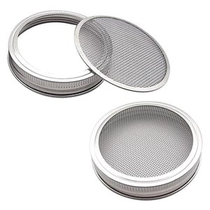 Planters & Pots Set Of 2 Stainless Steel Sprouting Jar Lid Kit For Superb Ventilation Fit Wide Mouth Mason Jars Canning Making Orga