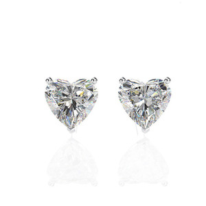 HBP fashion luxury Korean sweet love fresh temperament Zircon Earrings small and exquisite accessories