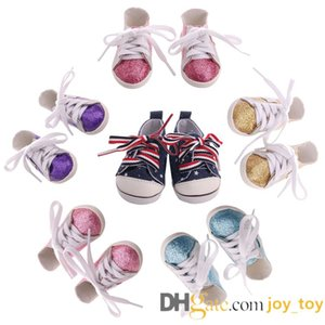 Mix 18 inch doll gliter lace up shoes sneakers for 18 Inch America Girl Funny Girl Boy Doll Accessories