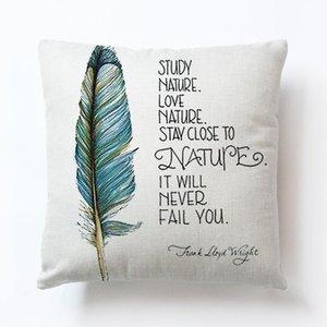 Letra de RubyLove impressão Sofá Cintura de carro lance travesseiro almofada capa casa decoração home cojines decorativos para sofá travesseiro capas