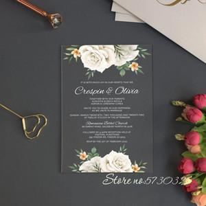 Free Shipping Custom Acrylic Wedding Invitation Transparent Wedding Acrylic Invites Partecipazoni Matrimonio Acrylic Invitations