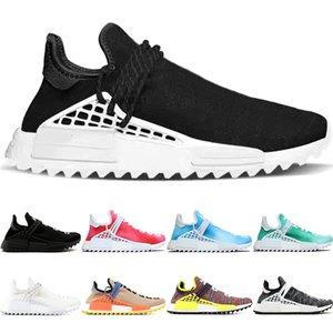 Trail de race humaine courir des hommes femmes Pharrell Williams Hu Runner Passion Core Noir Peace Sport Haute Qualité Sport Sneakers Taille 36-47