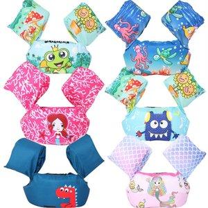 어린이 구명 재킷 물 소매 부력 襦 袢 아이들 수영 장비 만화 어린 아기 수영 팔 동그라미 떠있는 수영 반지 셔츠