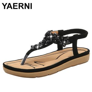 YAERNIWomen's Sandals 2021 Simple New Brand Breathable Non-slip Shoes Pure Color Leather Rome Sandal Women Shoes Sandals E1169