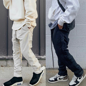 Air Miedo a Dios Calentamiento Pantalones Niebla Marca Colaborar Lágrimas Láuturas Pantalones Hombres Casuales Pantalones largos Pantalones Baloncesto Deporte Hip Hop Streetwear