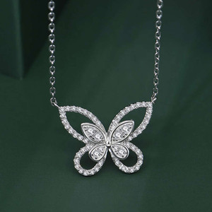HBP fashion Shipai jewelry 2021 new bowknot Necklace Sterling Silver imitation clavicle Chain Pendant