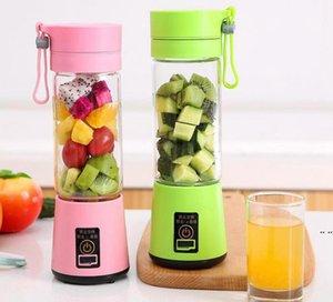380ml Personal Blender Portable Mini Blender USB Juicer Cup Electric Juicer Bottle Fruit Vegetable Tools sea ship HWB5232