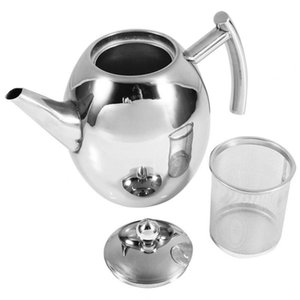 Stainless Steel Teapot Coffee Kettle with Filter Large Capacity Heat Resistant Coffee Pot Infuser Office Teaware Sets Home Tea Pot