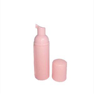 2021 60ml Pink Plastic Foam Pump Refillable Empty Cosmetic Bottle Lashes Cleanser Soap Dispenser Shampoo Bottle With Golden1