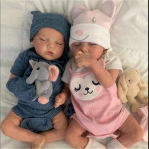 17inch 43cm Twin b Blank Realistic Newborn Fabric Body Bebe Reborn Unpainted Unfinished Doll Parts Diy Kit