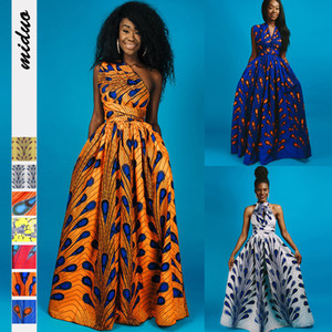 Europe and the United States 2021 popular feather print bandage wear African dress national style women's sexy split skirt
