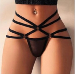 Plus Size Womens Sexy Panties Hollow Out Bandge Ladies Slips 2021 New Fashion Casual Women Underwear