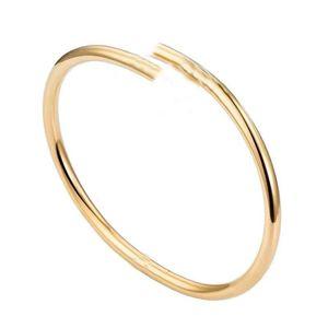 Fashion luxury nail bangle classic titanium steel love bracelet creative design jewelry with exquisite gift box
