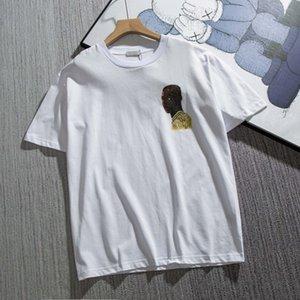 21 ss männer gedruckt t shirts 3d menschen letter letter briefs männer kleidung kurze hülse herren shirts Tag Buchstaben polo neu schwarz weiß 05