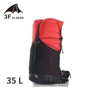 3F UL engrenagem trajetória 35L Camping Ultralight Mochila Durável Viagem Mulheres / Homens Saco XPAC Packs Outdoor Sport Saco à prova d'água