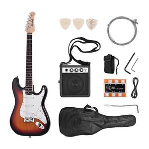 Muslady Guitar Electric Wood Body Maple Neck 21 Frets 6 corda con altoparlante Pipe Pipe Guitar Bag Strap Seleziona la mano destra