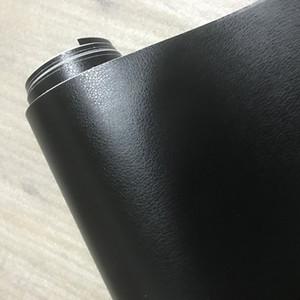 3D PVC DIY Car Styling Interior Dashboard Sticker Black Leather Texture Trim Vinyl Wrap Sheet Film Sticker 10 20 30 40 50X152CM