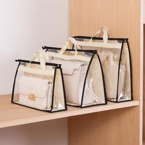 تنفس حقيبة الغبار مقاومة للرطوبة خزانة حقيبة جلدية مختومة حماية تشطيب تخزين منظم شنقا شفاف