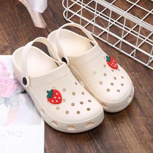 Summer Women Croc Clogs Platform Garden Sandals Cartoon Fruit Slippers Girl Beach Shoe Fashion Slides Outdoor Sandalias De Mujer #nF22
