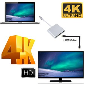 Type-C Hub USB-C to USB 3.0 HDMI PD Charging Adapter for MacBook Matebook 50pcs DHL