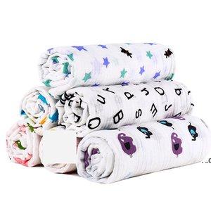 Muslin Baby Blanket Cotton Newborn Swaddles Bath Gauze Infant Wrap Kids Sleepsack Stroller Cover Play Mat 78 Designs EWA7383