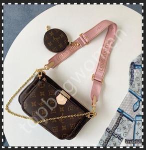 Bolsos de hombro más vendidos bolsos de hombro Diseñador Bolso de moda Bolso Bolso Bolsa de teléfono Bolsas de teléfono de tres piezas Compras gratuitas M44813