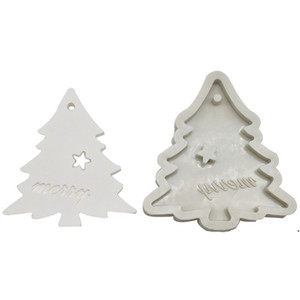 Silicone Bakeware Molds For DIY Snowflake Christmas Tree Hanging Baking Tool Kids Keychain Perfume Car Pendant Cake Decoration AHD4958