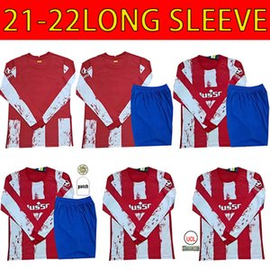 Atletico Long sleeve soccer jerseys 21 22 JOÃO FÉLIX MADRID 2021 2022 M.LLORENTE KOKE SAUL SUAREZ Correa Carrasco camiseta football shirts uniforms