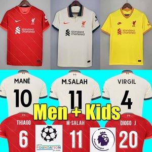 21 22 LVP home soccer jerseys M.SALAH ALEXANDER ARNOLD Mane Firmino VIRGIL DIOGO J Thiago A.BECKER football shirt KEITA WIJNALDUM men kit 2021 2022 Liverpool kids