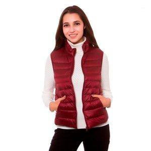 [Aiweier] Mujeres Lightweight Down Jackets Chaleco Otoño Chaqueta de invierno Cremallera Slim Slim Abrigos para Parkas Garments Ropa1
