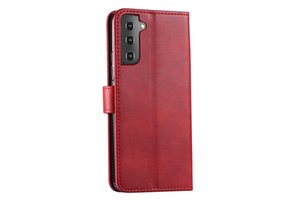 Telefongehäuse Leder Geldbörsenfall Retro Flip-Stand-Handy Kreditkarten-Slots für Samsung A70 50 40 A30 20 20E A9 2018