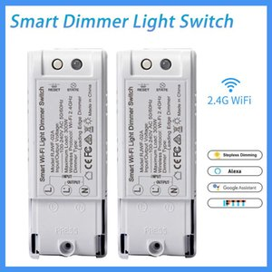 AC100V~240V Wifi Wireless Dimmer Remote Switch Breaker Controller Module Works With Alexa Google Home Smart Life APP Smart Home