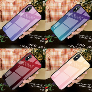 NEW 3D Artistic Gradient Tempered Glass Cover Suitable for iPhone XR XS MAX phone case tempered glass Designer phone case
