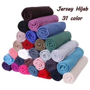 180*80 cm Hair Maxi Cotton Jersey Abaya Hijab Scarf Turban Muslim Fashion Foulard Turbans For Women Headscarf Voile Femme Musulman