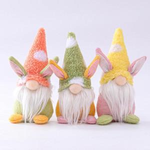Easter Bunny Gnome El Yapımı İsveç Tomte Tavşan Peluş Oyuncaklar Bebek Süsler Tatil Ev Partisi Dekorasyon Çocuklar Paskalya Hediye FY7600