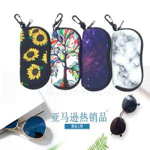 Diving material zipper small glasses bag sunglasses box fashion fall proof waterproof