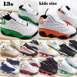 Jumpman 13 Детские баскетбольные туфли 2021 белые счастливые Зеленые морские звезды CNY он получил игру Чикаго Babys ModeLer детей Открытый кроссовки 22-35