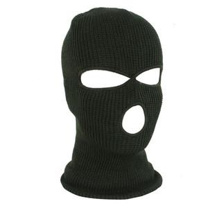 Hole New Ski Mask 3 Balaclava Knit Hood Motorbike Motorcycle Helmet Hat Face Shield Beanie Cap Hh9-2975