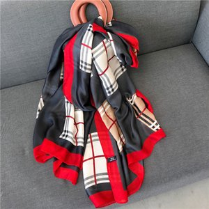 Spring autumn new British style women's literature and art silk like printing scarf summer travel sun proof shawl A98Y