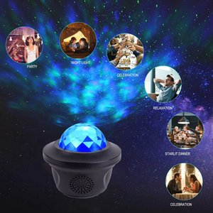 2021 New Color Laser Led Sky Starlit Ocean Projector Night Light Remote Control Water Projection with Bluetooth Music Wxq4