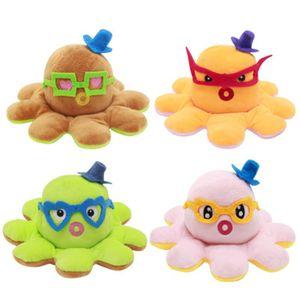 Puppen Prominente niedlich Wende Mangostan Figuren doppelseitig Flipper Plüsch Octopus Fruchtpuppe