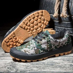 Training liberation shoes military shoe labor insurance construction site farmland men and women camouflage boots wholesale size 35-45