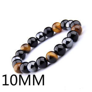 Natural Black Onyx With Natural Stone Hematite Stone Tiger Eye Beaded Strand Wrap Buddha Bracelets&Bangles Jewelry DHL Free
