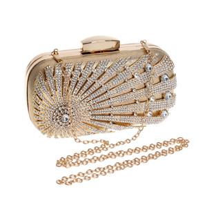 Luxurys Designer Bags 2020 Women Handbag Clutch Rhinestone Evening Bag Shoulder Bag Shiny Crystal Purse for Ball Wedding Party