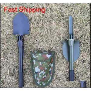 Folding Garden Spade Portable Small Engineer Shovel Fishing Utility Shovel Multi-purpose Outdoor Camping Hort qylUsZ toys2010
