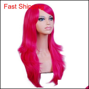 70cm Loose Wave Synthetic Wigs For Women Cosplay Wig Blonde Blue Red Pink Grey Purple Hair For Human Party For Ha jllaUm xhqhlady