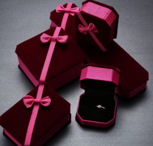 Bow Velvet Gift Box Upscale Jewelry Cartridge Necklaces Box Classic Jewelry Box ps2964