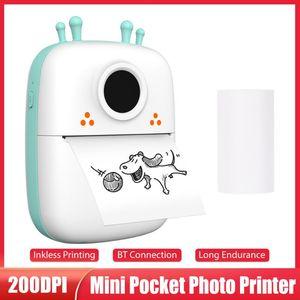 Printers Mini Pocket Printer Portable BT Wireless Thermal Po Notes Errors Memo For Study Office Travel
